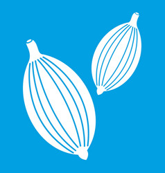 cardamom pods icon white vector image vector image