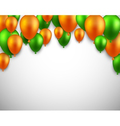 Celebrate arch background with balloons vector image