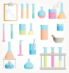 Chemical test tubes vector