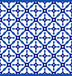 Chinese blue pattern vector