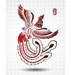 Chinese phoenix2 vector