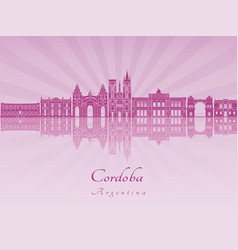 Cordoba ar skylkine in purple radiant orchid vector