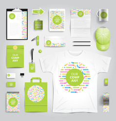 Corporate identity print template vector