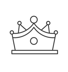 Crown with gems jewelry related outline icon vector