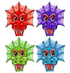 Dragon heads vector image