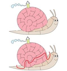 Easy snail maze vector