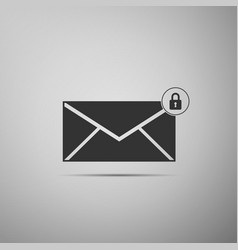 email message lock password icon isolated vector image