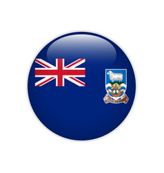 Falkland islands flag on button vector