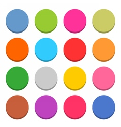 Flat blank web icon color round button vector image