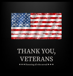 for veterans day thank you graphic vector image