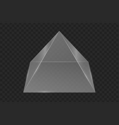 Glass prism pyramid vector