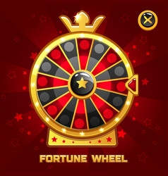 Gold fortune wheel for ui game vector