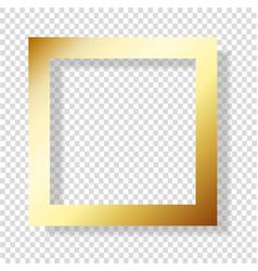 golden foil smudge frame gold glossy grunge vector image