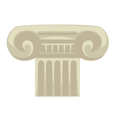 greek pillar or column ancient greece symbol vector image