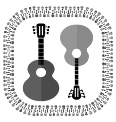 Guitars Silhouettes Isolated vector image