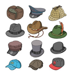 Hat fashion clothing headgear or headwear vector