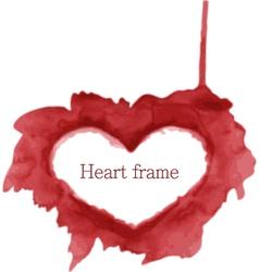 Heart frame vector image