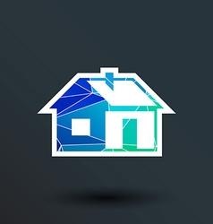 home icon button logo symbol concept vector image