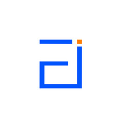 initial letter ei logo template design vector image
