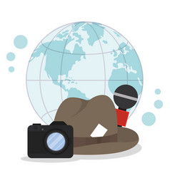 Journalism around the world vector