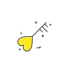 key heart love icon design vector image