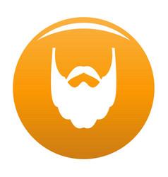 Long beard icon orange vector