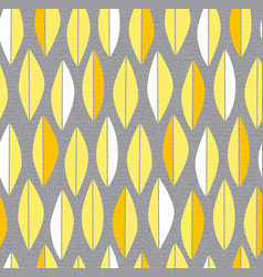 mid century modern feather or leaf pattern vector image