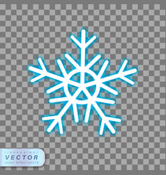 neon snowflake icon vector image