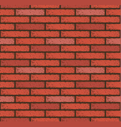 Old red brick pattern seamless wall wallpaper vector