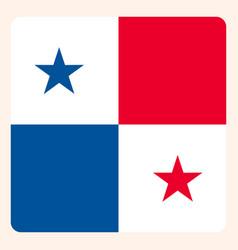 Panama square flag button social media vector