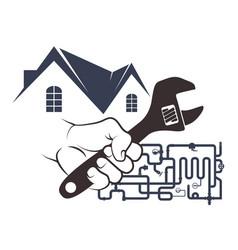 plumbing in house design vector image