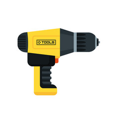 Power tools screwdriver vector