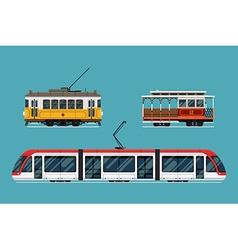 Railway Transport Icon Set vector