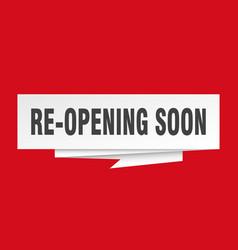 Re-opening soon vector