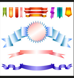 realistic banners collection vector image