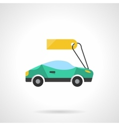 Sale of new cars flat color icon vector image