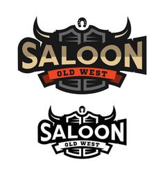saloon tavern wild west logo emblem vector image