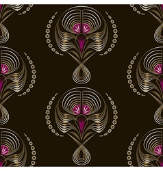Seamless art deco modern pattern graphic ornament vector image