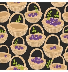 Seamless pattern with forest berries vector image