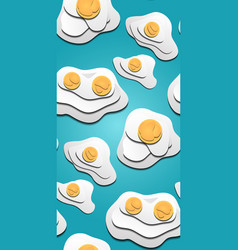 seamless texture of 3d fried eggs cut out from vector image