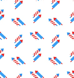 Seamless Texture Rocket for Independence Day vector image