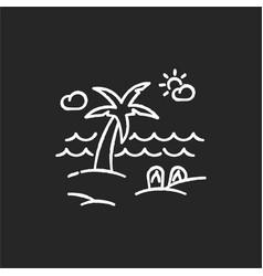 seaside resort chalk white icon on black vector image