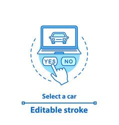 select car concept icon vector image