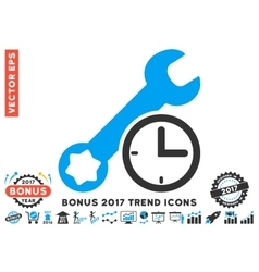 Service Time Flat Icon With 2017 Bonus Trend vector image
