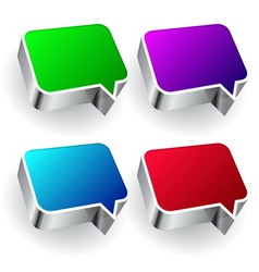 Set of colourful speech icon isolated on white vector image