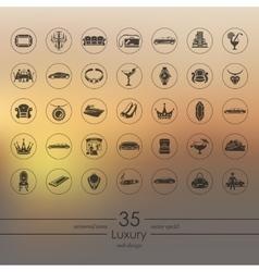 Set of luxury icons vector image