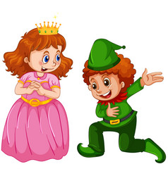 Set prince and princess custome vector