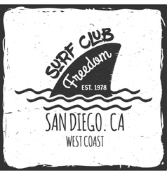 set surf club concept vector image