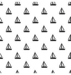 Small boat pattern simple style vector