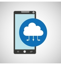 Smartphone programming web cloud vector
